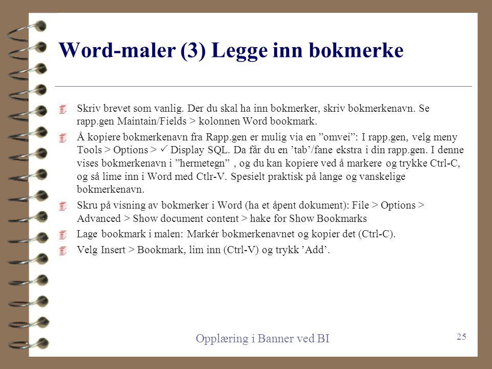 Word-maler (3) Legge inn bokmerke