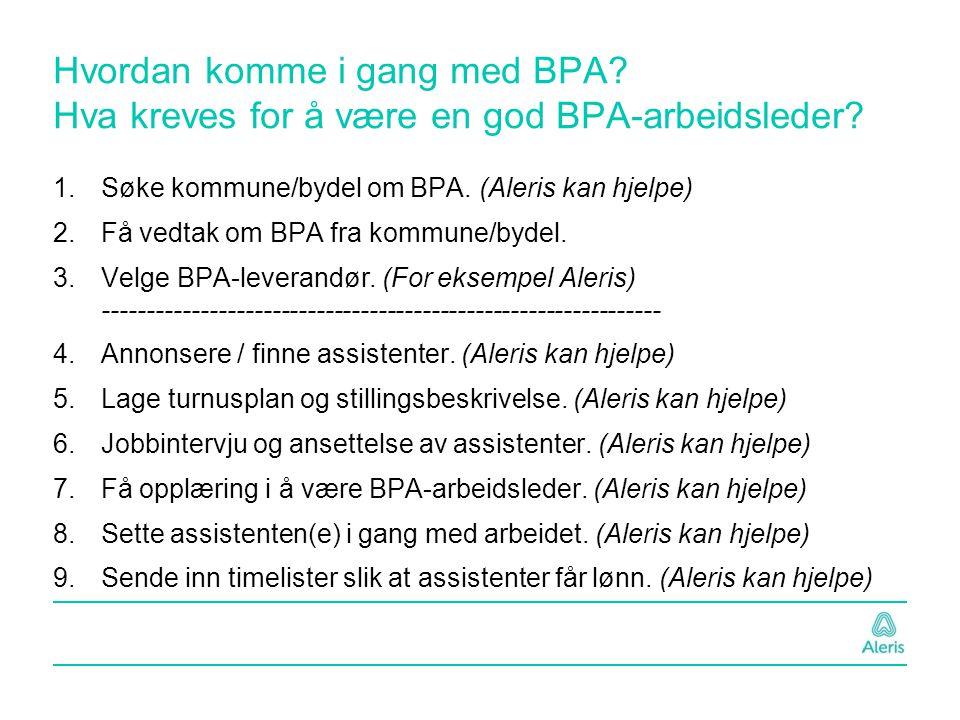Hvordan komme i gang med BPA