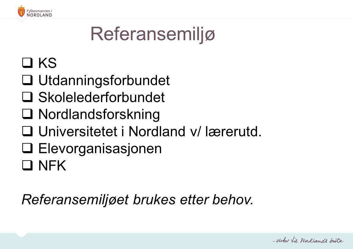 Referansemiljø KS Utdanningsforbundet Skolelederforbundet