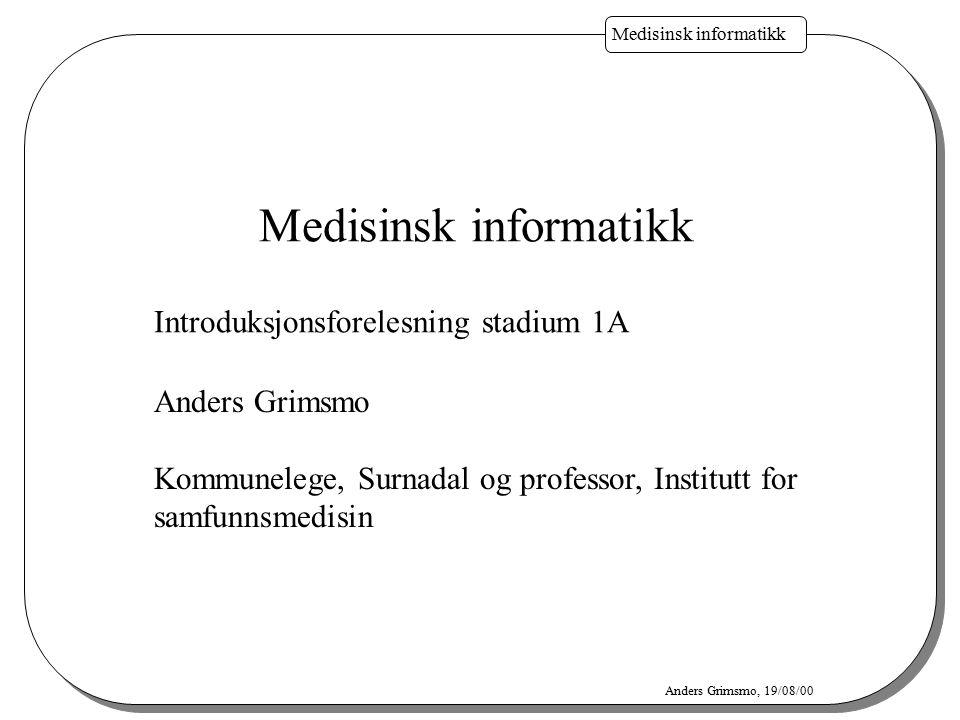 Medisinsk informatikk