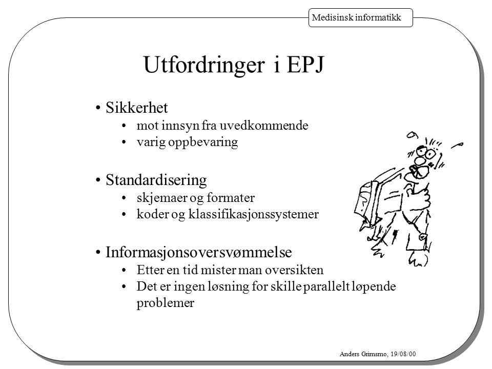 Utfordringer i EPJ Sikkerhet Standardisering Informasjonsoversvømmelse