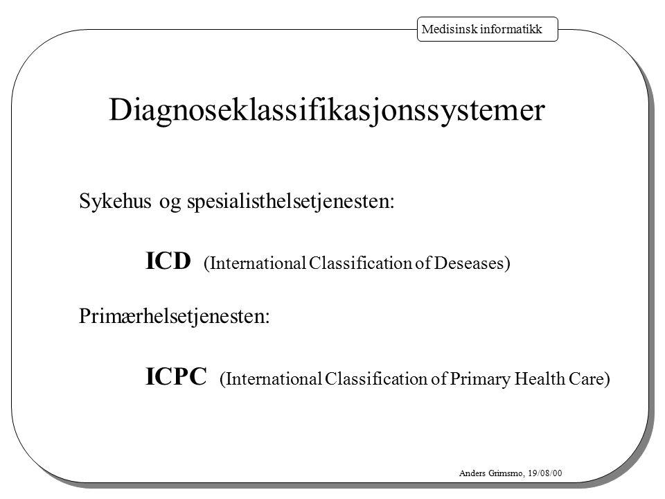 Diagnoseklassifikasjonssystemer