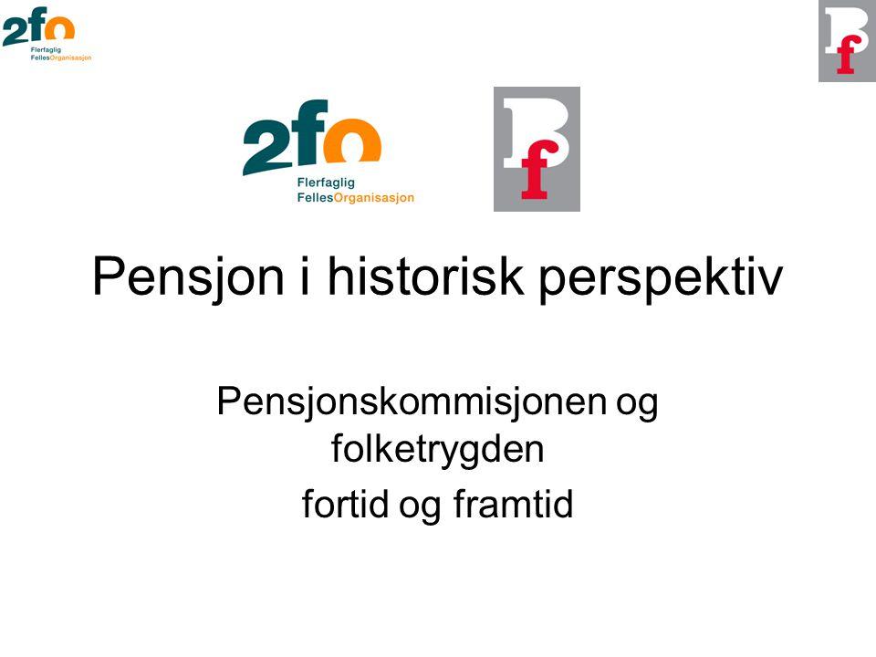 Pensjon i historisk perspektiv