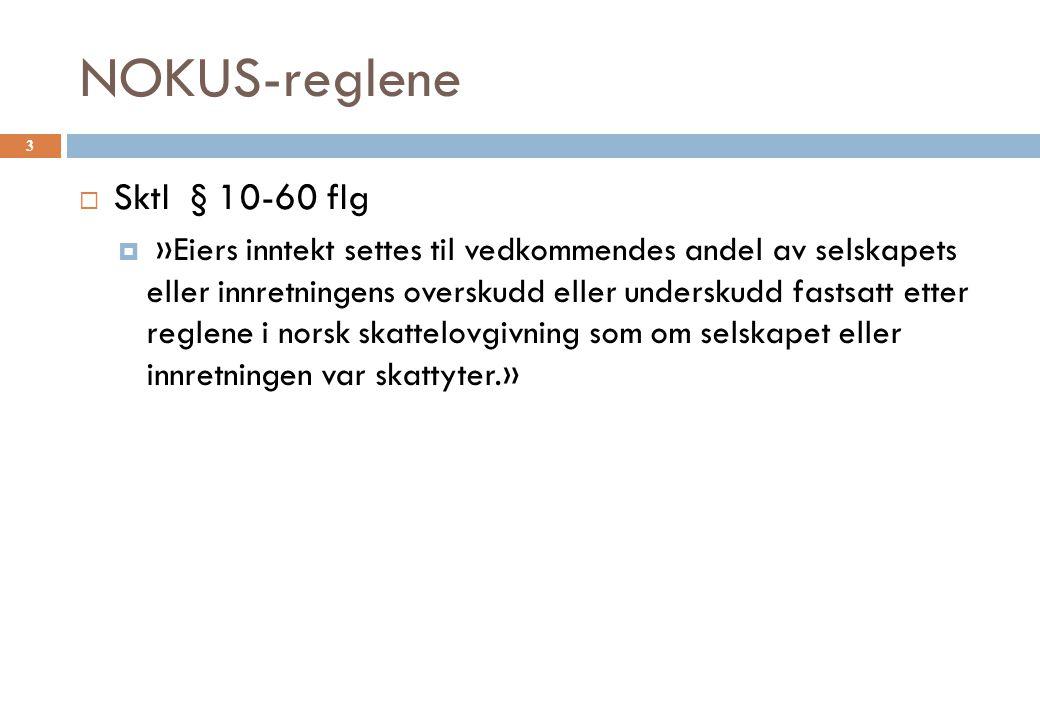 NOKUS-reglene Sktl § 10-60 flg