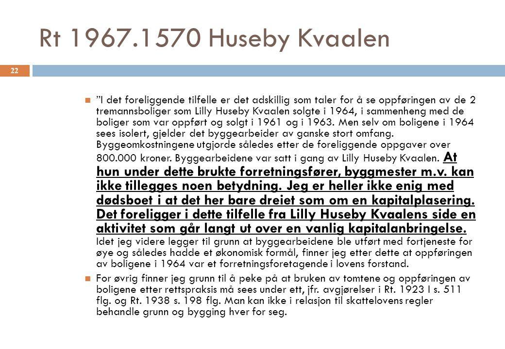 Rt 1967.1570 Huseby Kvaalen