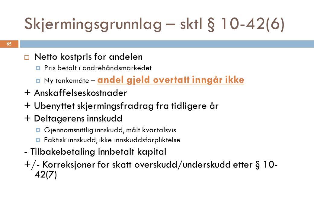 Skjermingsgrunnlag – sktl § 10-42(6)