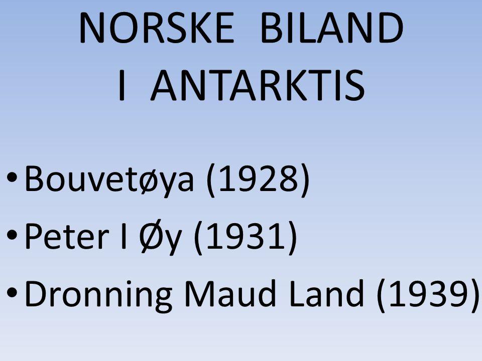 Norske biland i Antarktis NORSKE BILAND I ANTARKTIS