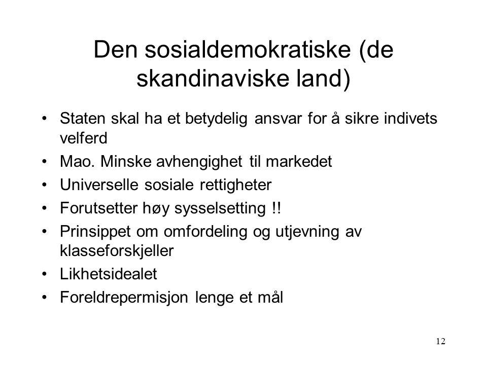 Den sosialdemokratiske (de skandinaviske land)