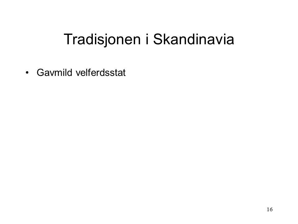 Tradisjonen i Skandinavia