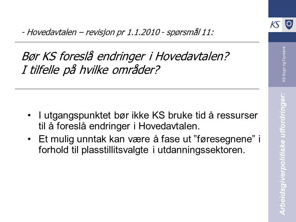 - Hovedavtalen – revisjon pr 1. 1