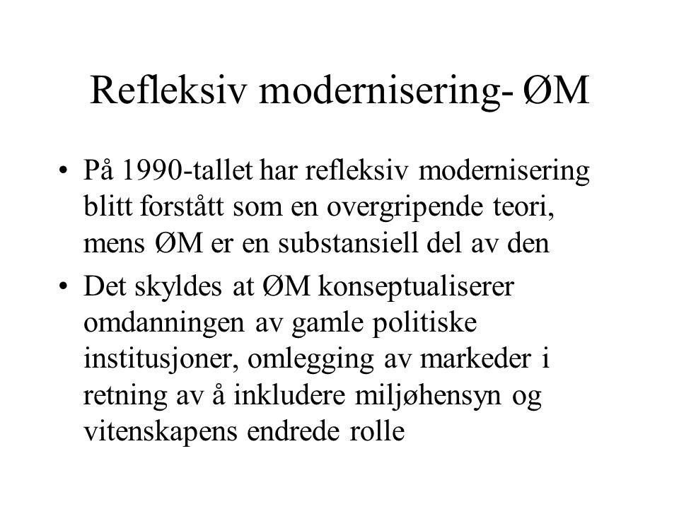Refleksiv modernisering- ØM