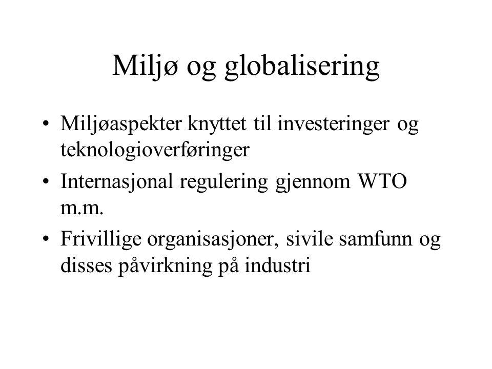Miljø og globalisering