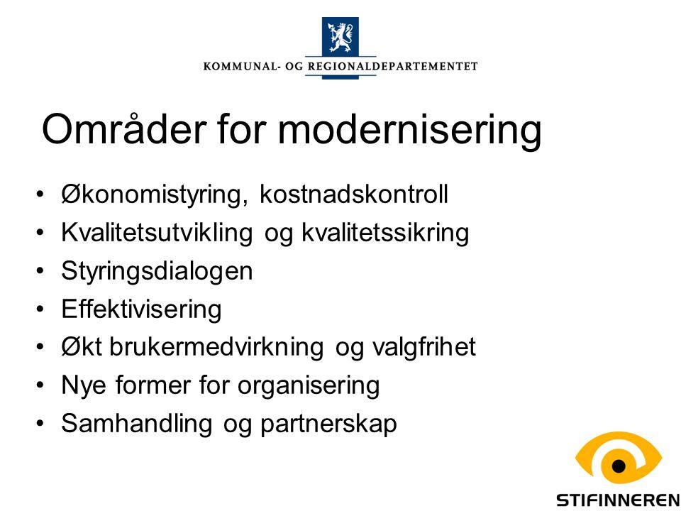 Områder for modernisering