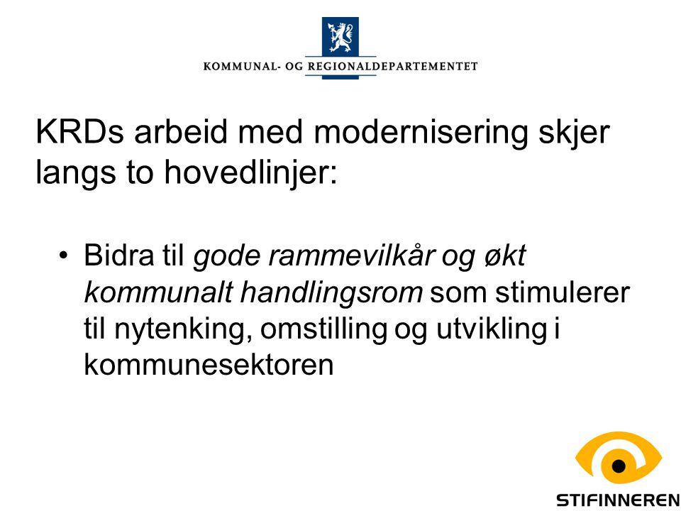 KRDs arbeid med modernisering skjer langs to hovedlinjer: