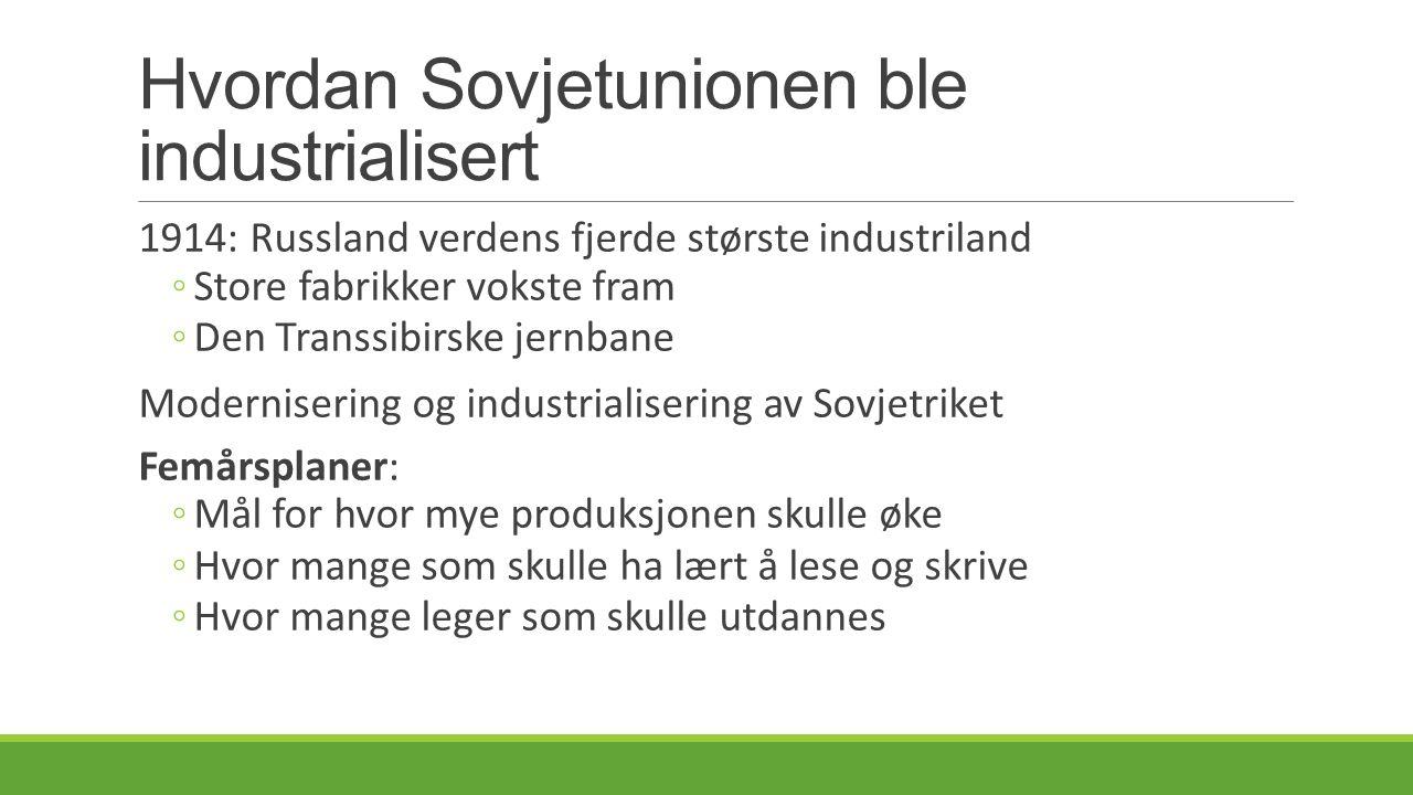 Hvordan Sovjetunionen ble industrialisert