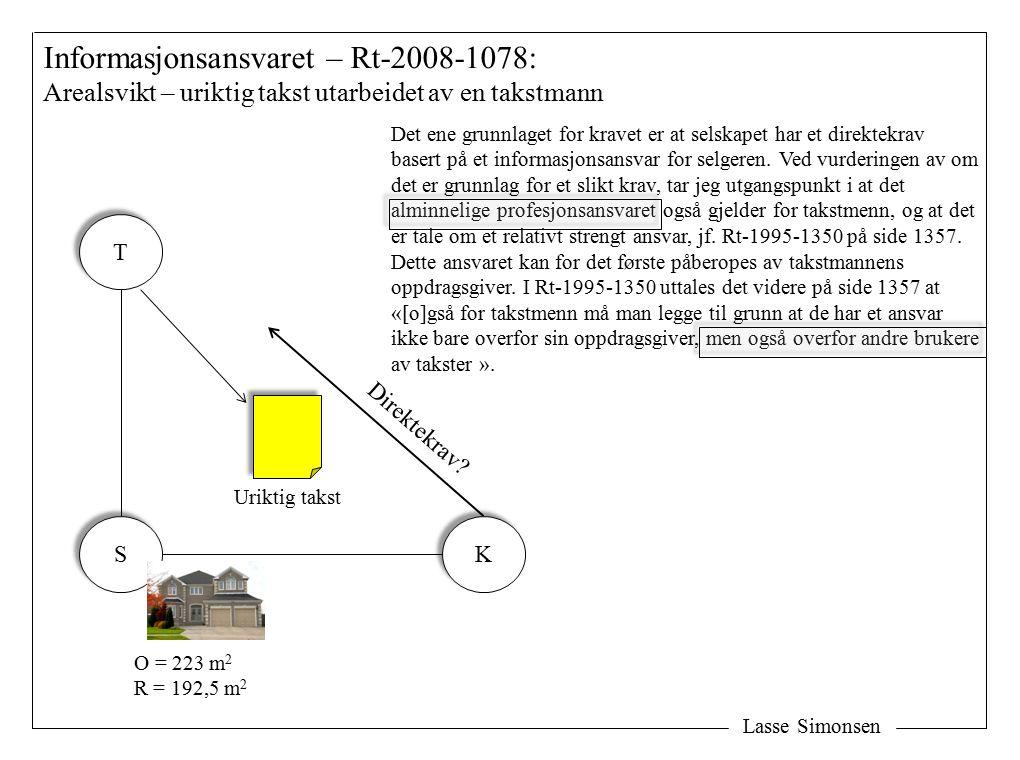 Informasjonsansvaret – Rt-2008-1078: