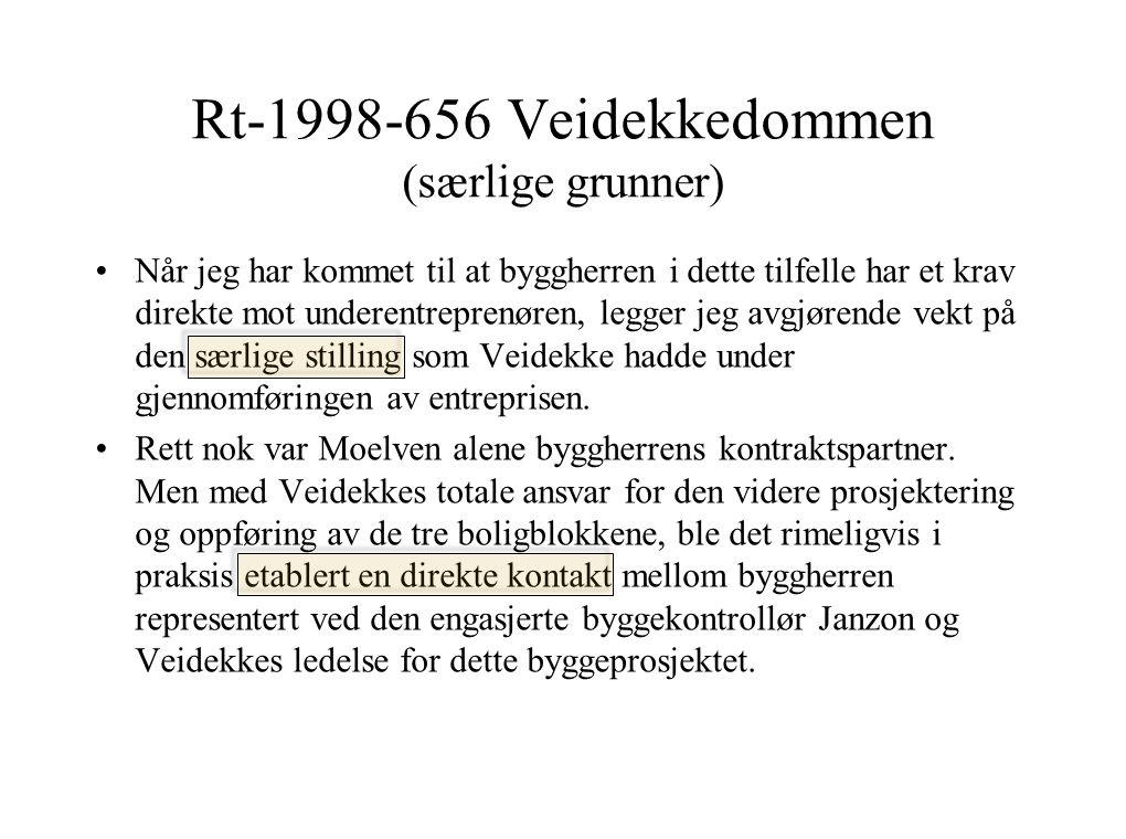 Rt-1998-656 Veidekkedommen (særlige grunner)