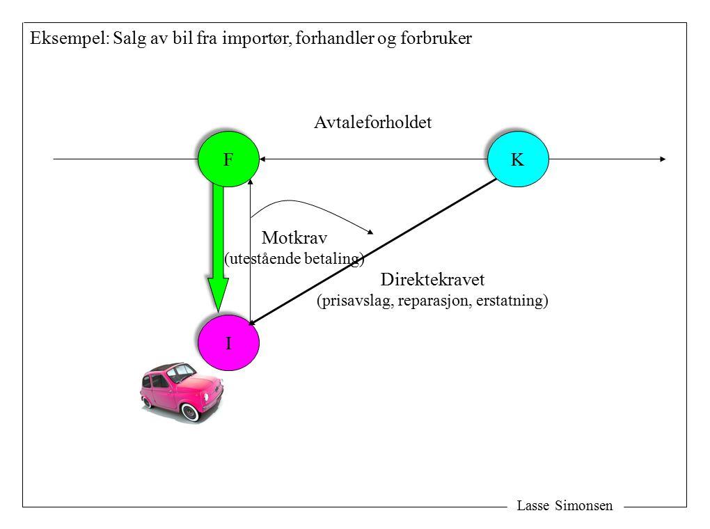 Eksempel: Salg av bil fra importør, forhandler og forbruker