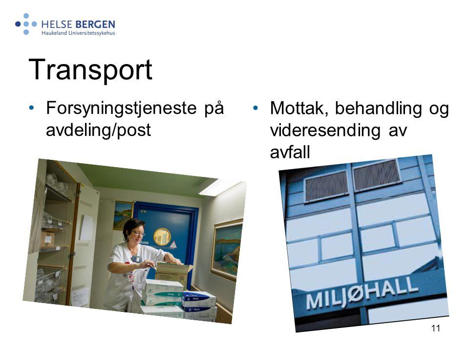 Transport Forsyningstjeneste på avdeling/post