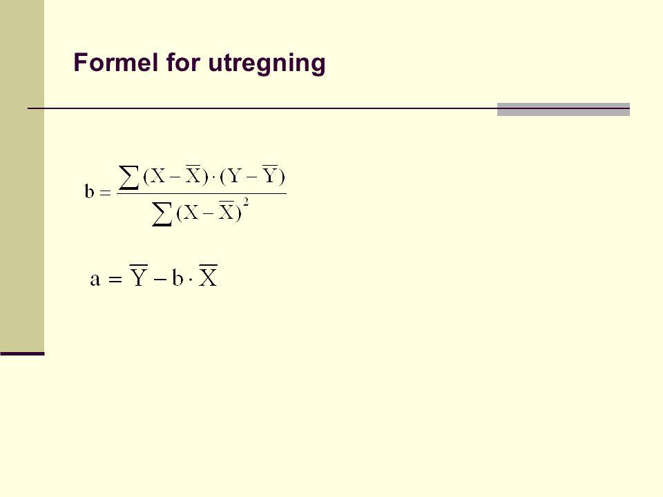 Formel for utregning