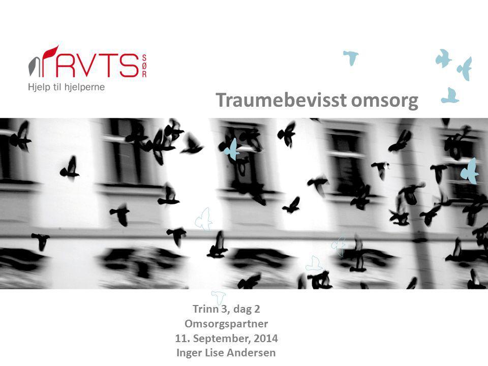 Traumebevisst omsorg Trinn 3, dag 2 Omsorgspartner 11. September, 2014