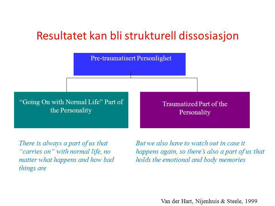 Resultatet kan bli strukturell dissosiasjon