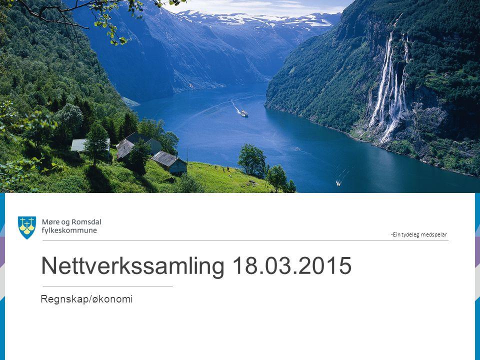 Nettverkssamling 18.03.2015 Regnskap/økonomi