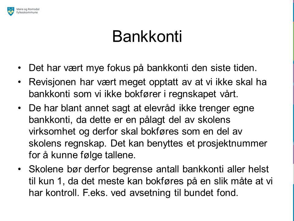 Bankkonti Det har vært mye fokus på bankkonti den siste tiden.