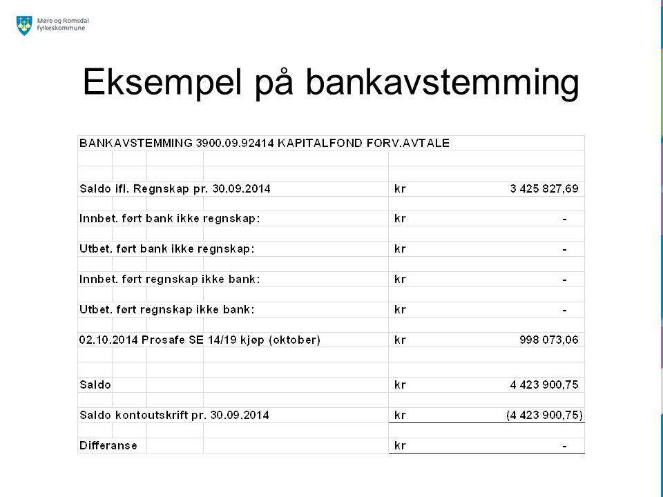 Eksempel på bankavstemming