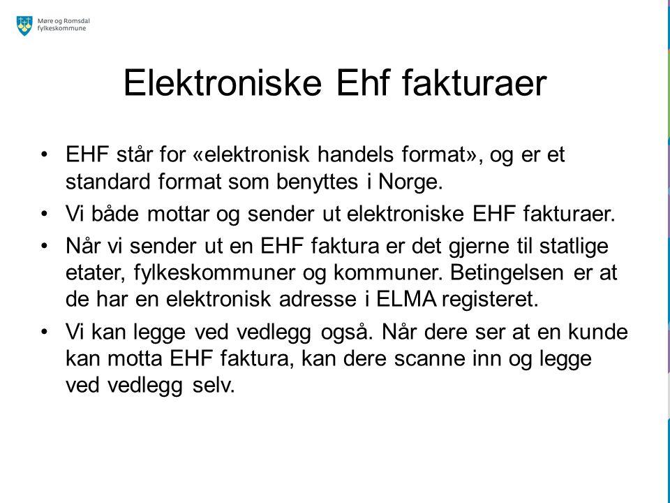 Elektroniske Ehf fakturaer