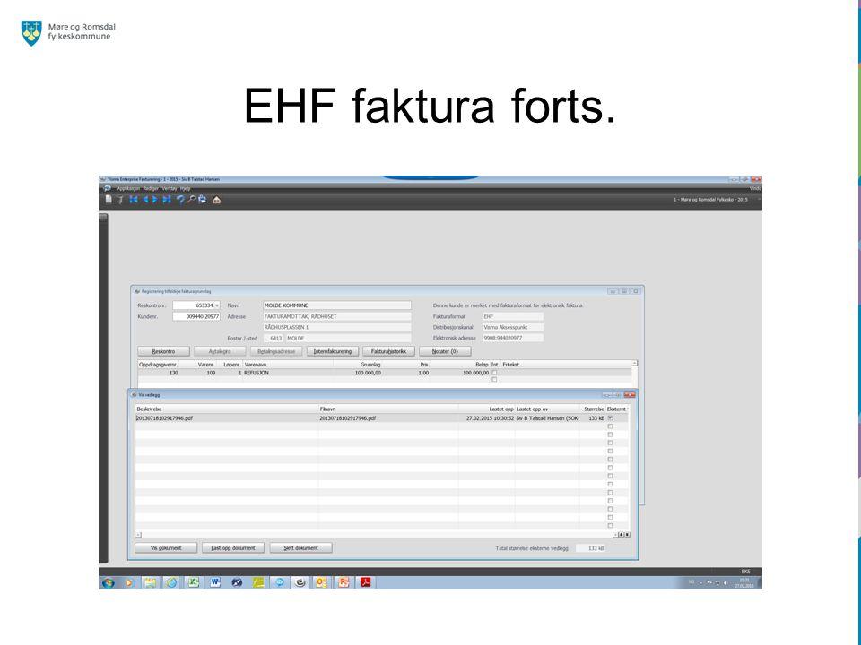EHF faktura forts.
