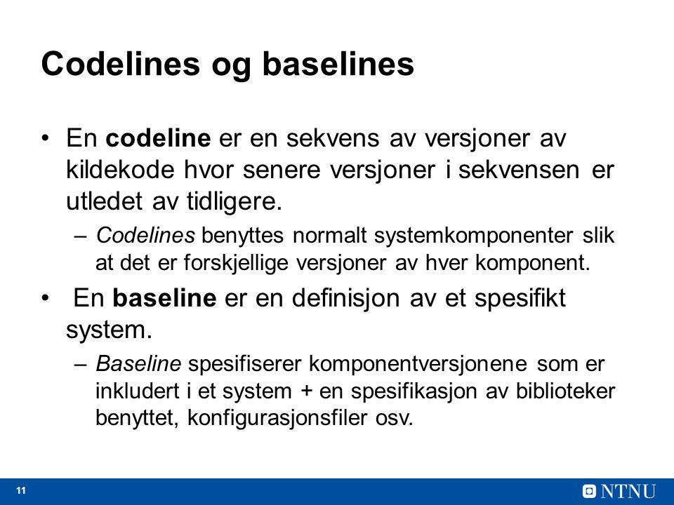 Codelines og baselines
