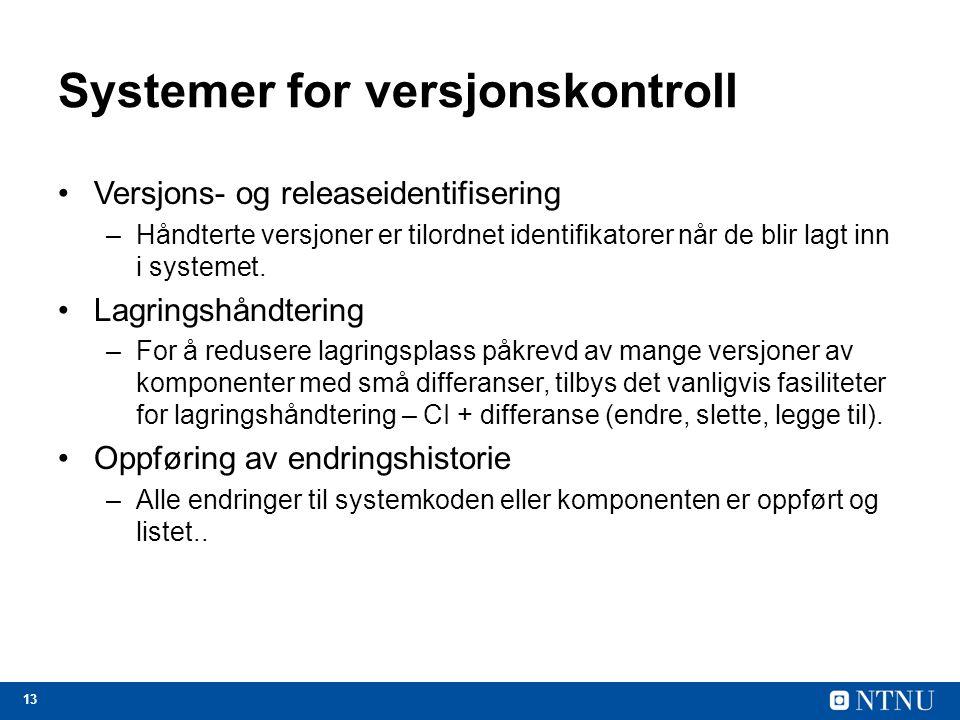 Systemer for versjonskontroll