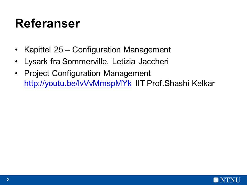 Referanser Kapittel 25 – Configuration Management