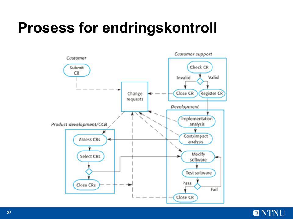 Prosess for endringskontroll