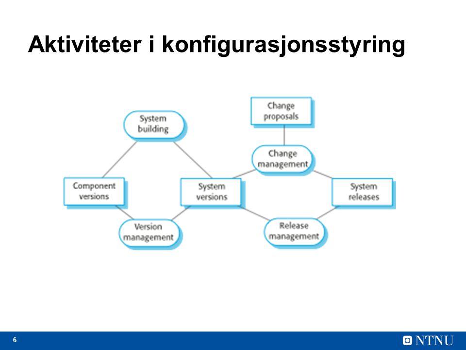 Aktiviteter i konfigurasjonsstyring