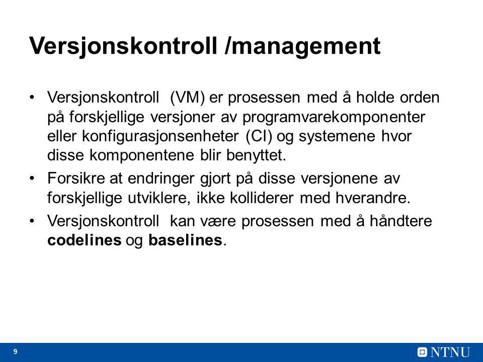 Versjonskontroll /management