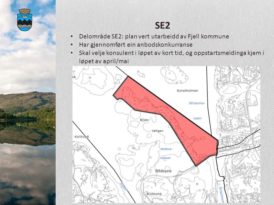 SE2 Delområde SE2: plan vert utarbeidd av Fjell kommune