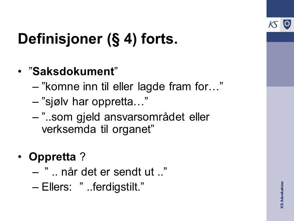 Definisjoner (§ 4) forts.
