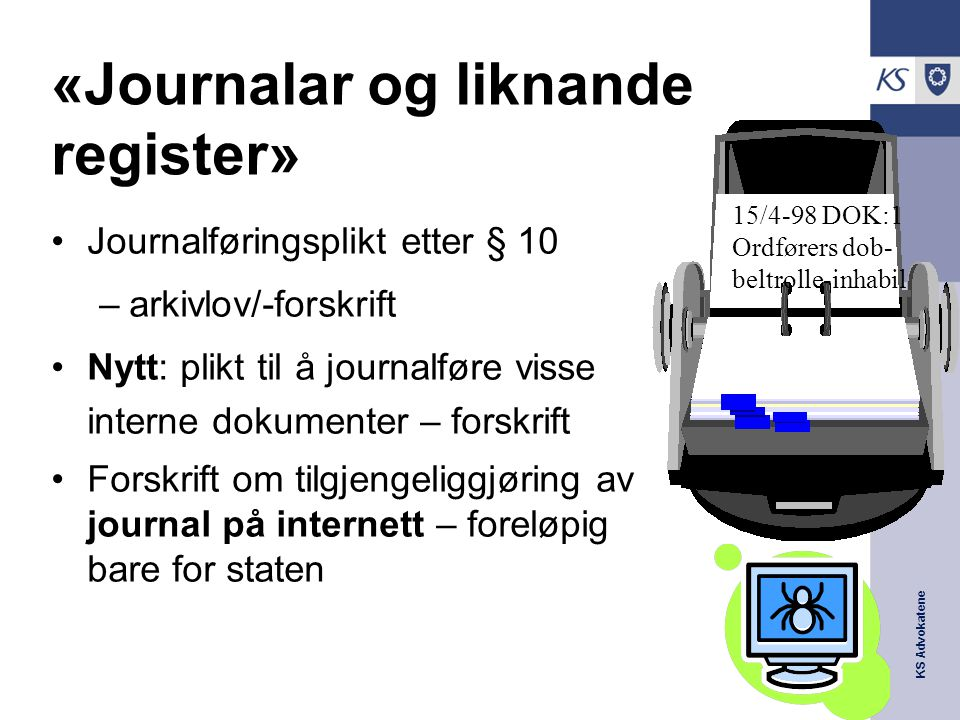 «Journalar og liknande register»