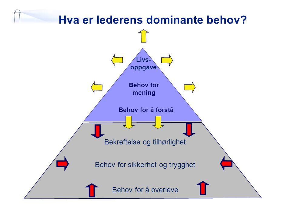 Hva er lederens dominante behov