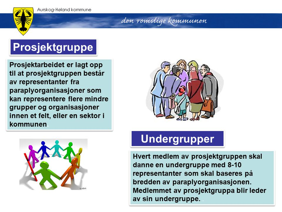 Prosjektgruppe Undergrupper