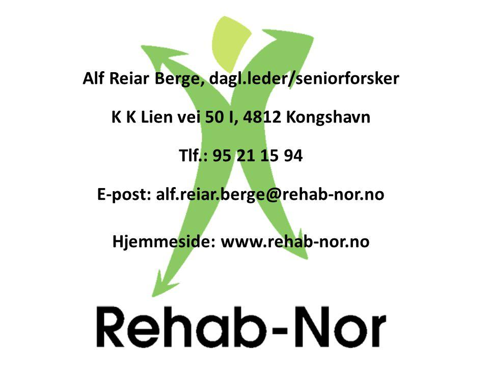 Alf Reiar Berge, dagl.leder/seniorforsker