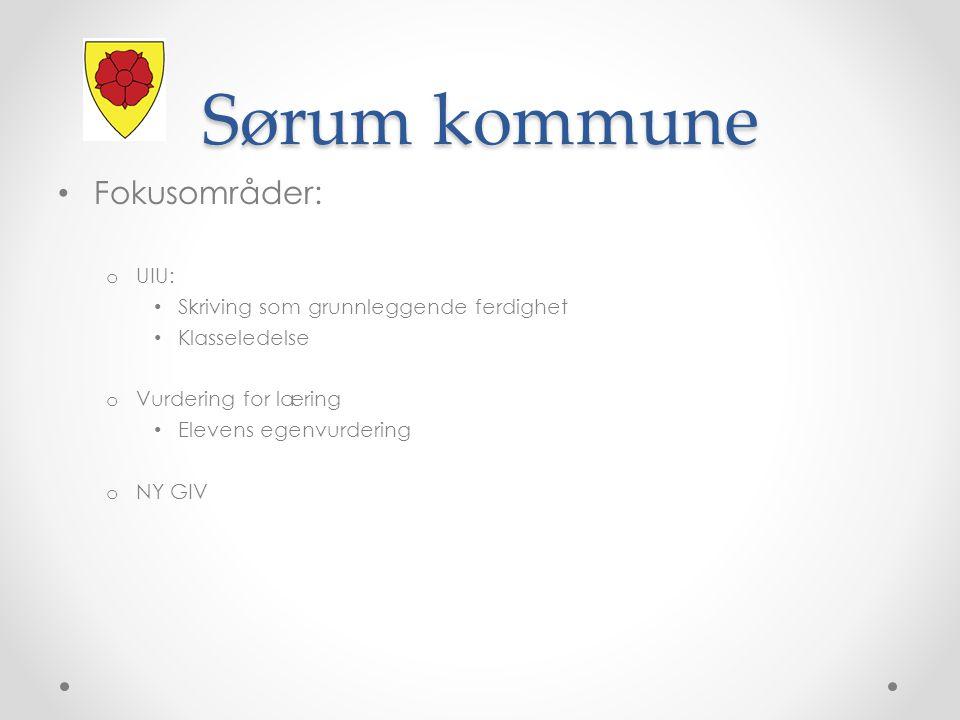 Sørum kommune Fokusområder: UIU: Skriving som grunnleggende ferdighet
