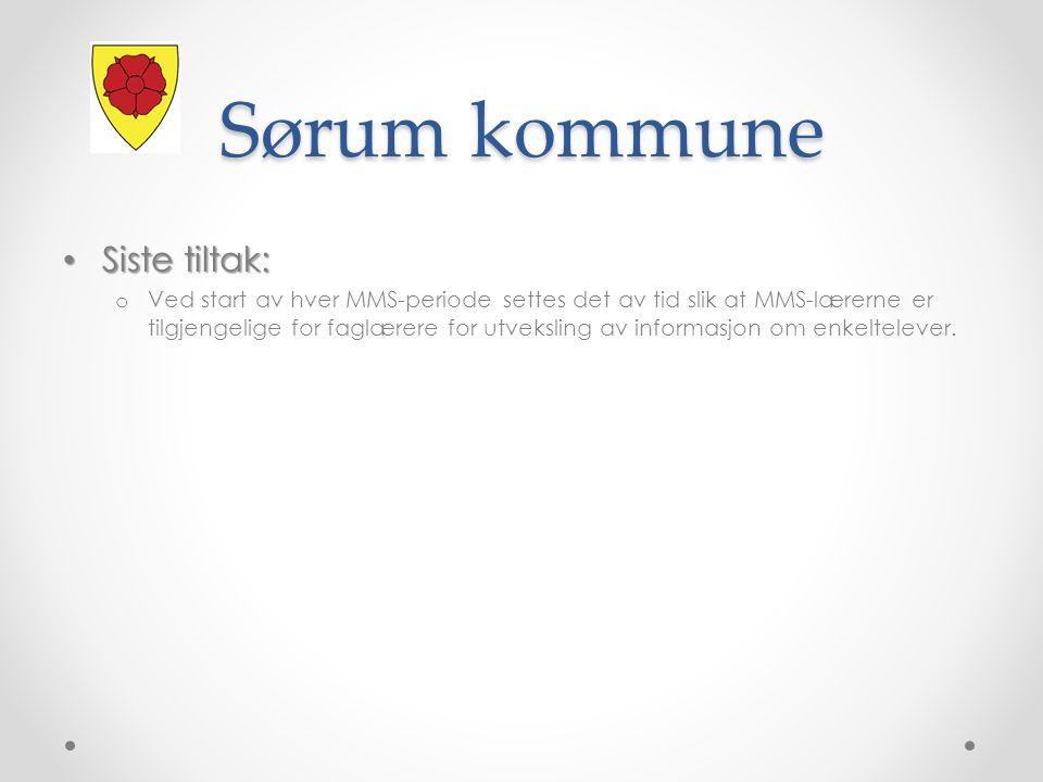 Sørum kommune Siste tiltak: