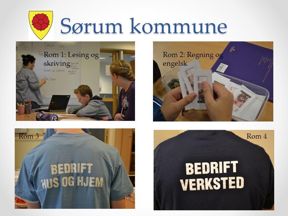 Sørum kommune Rom 1: Lesing og skriving Rom 2: Regning og engelsk