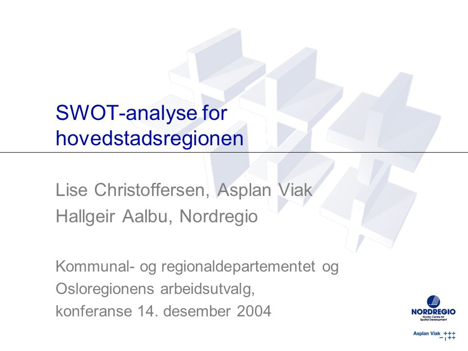 SWOT-analyse for hovedstadsregionen