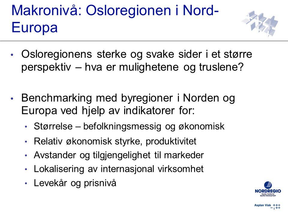 Makronivå: Osloregionen i Nord-Europa