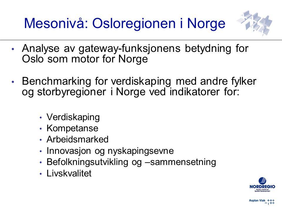 Mesonivå: Osloregionen i Norge