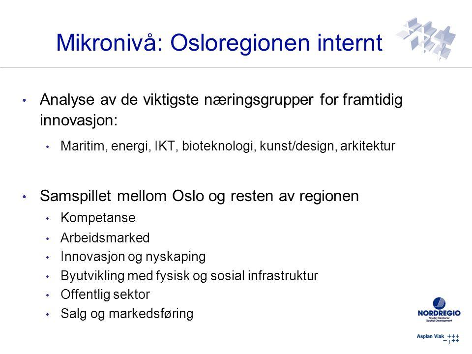 Mikronivå: Osloregionen internt